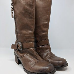 Franco Sarto Side Zip Panel Leather Calf Boot